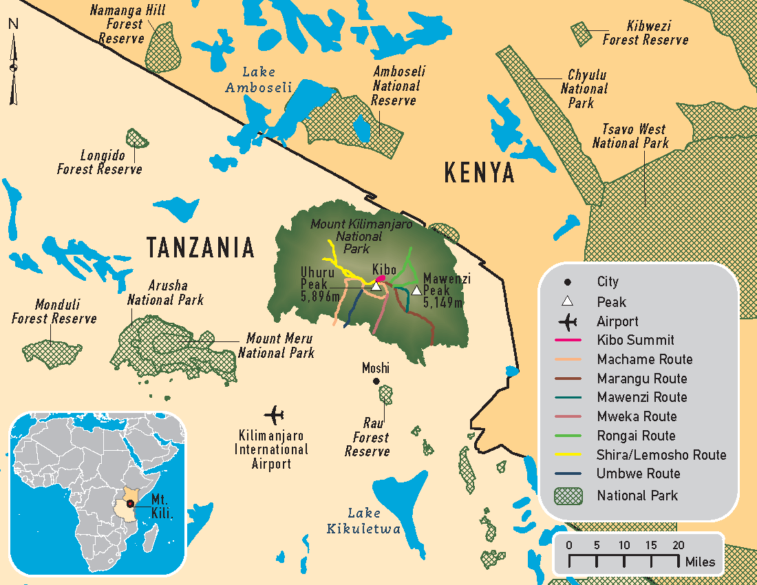 Mount Kilimanjaro Location | Where is Mount Kilimanjaro?